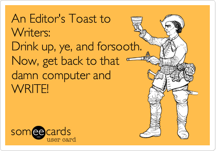 editors toast to writers
