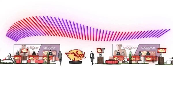 Specialty Food Convention – Creative Direction/Experiential Design/Concept Rendering For Freeman Xp