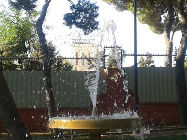 Fuente en Parque Lorenzo Azofra ( Getafe) Foto Jose Luis Sánchez