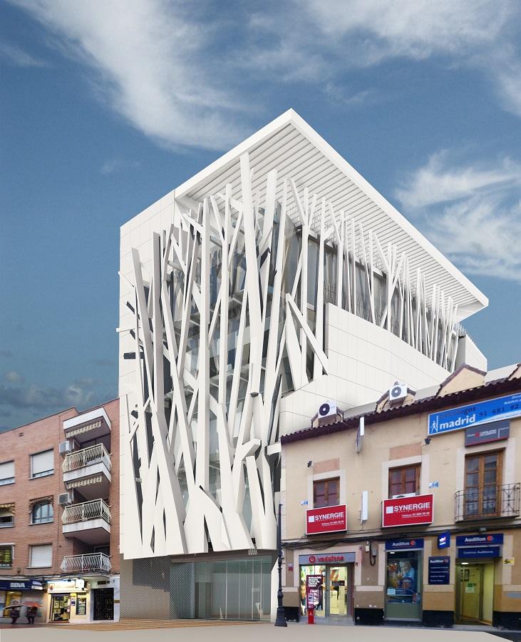 El que iba a ser el Teatro Madrid y que ya no se levantará en la céntrica calle getafense.
