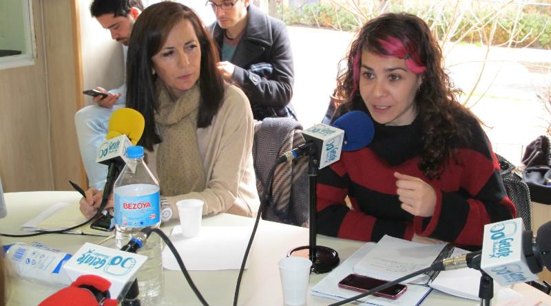 Inmaculada Lázaro, concejal del Partido Popular y Vanesa Lillo , Portavoz del Grupo Municipal de Ahora Getafe.