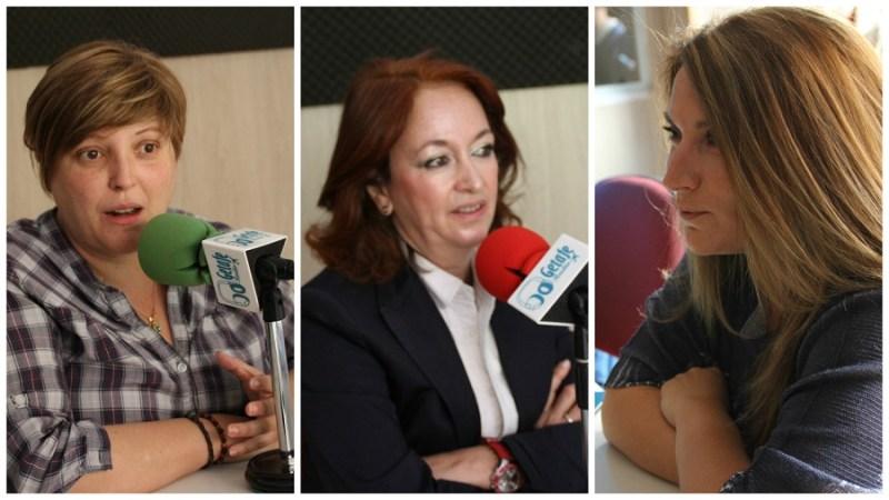 Raquel Alcázar, concejala de Cultura y las ediles de la oposición, Paz Álvarez (PP) y Mónica Cobo (Cs) en la tertulia de Getafe Radio.