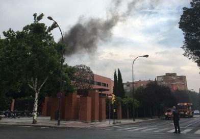 Fuego en la Universidad Carlos III