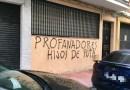 La sede del PSOE amanece con pintadas contra la exhumación de Franco