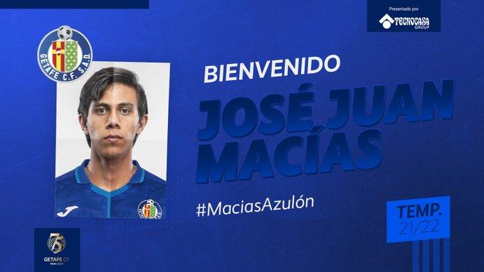 JJ Macías, nuevo jugador del Getafe