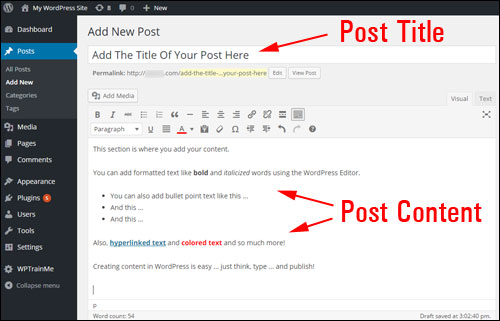 Step-By-Step Guide To Creating A WordPress Post