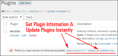 Upgrading And Deleting Plugins Safely Inside The Dashboard