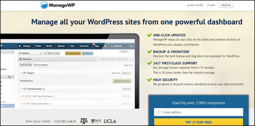 ManageWP.com - Update All Your WordPress Sites From One Central Dashboard