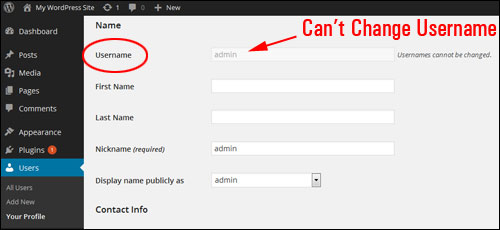 How To Change Your Admin User Name In WordPress To Another Username