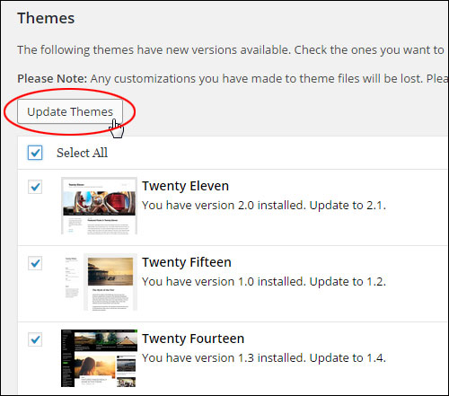 How To Upgrade Themes In WordPress