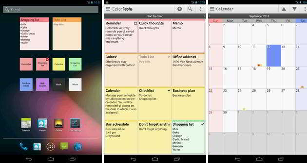 ColorNote Notepad Notes android widget