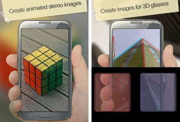 Applications de caméra 3D pour Android