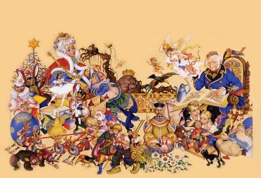 arthur_szyk_1894-1951-_andersens_fairy_tales_inside_cover_illustration_1944_new_york