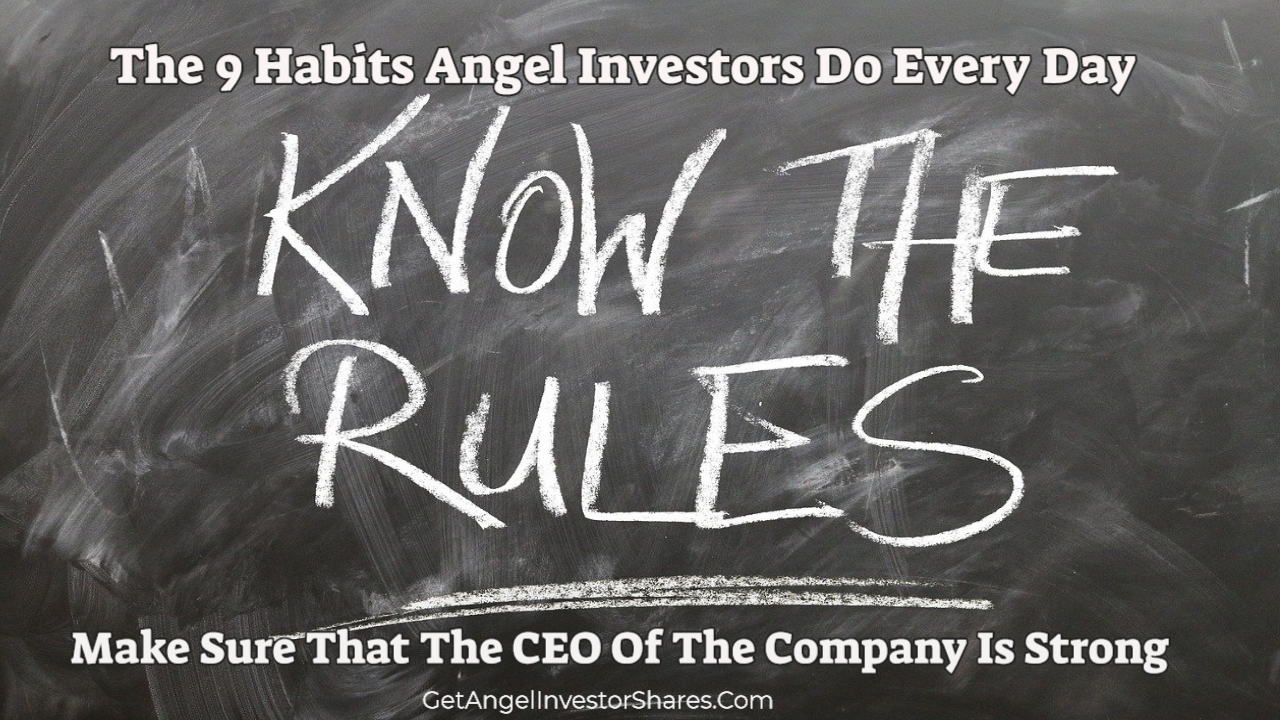 The 9 Habits Angel Investors Do Every Day