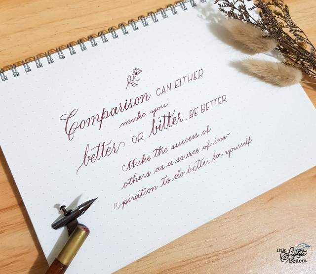 Words of wisdom and calligraphy for learners