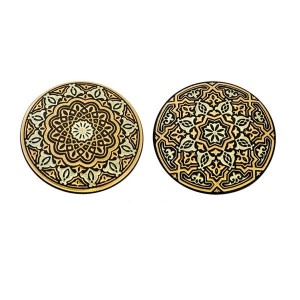 Damascene Arabesque Keychain Gold