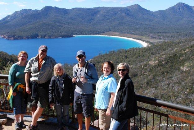 The gang at Wineglass bay