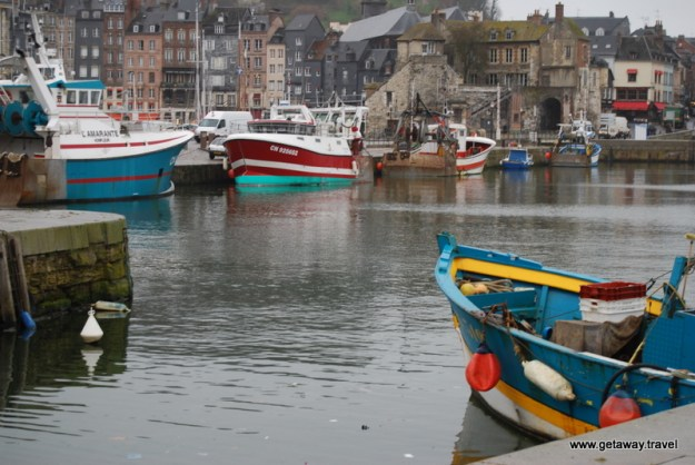 Honfleur Harbor boats