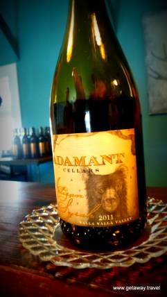 Adamant team - he makes wine, she does the artwork