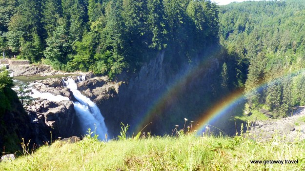 Snoqualmie Falls - double rainbow