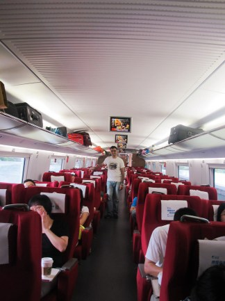 Shanghai to Beijing high speed train