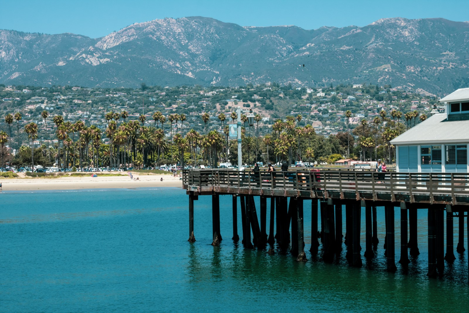 view of the pier in santa barbara