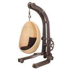 Hanging Chair Egg Wooden Youth Dining Engine Hoist With Nanna Ditzel Vintage