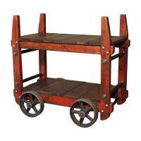 Industrial Bar Cart - Vintage Industrial by Get Back, Inc
