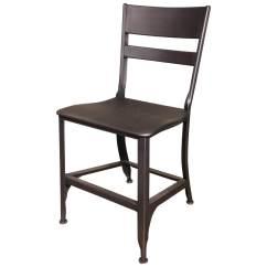 Industrial Dining Chair All Steel Gunmetal Toledo Get Back Inc