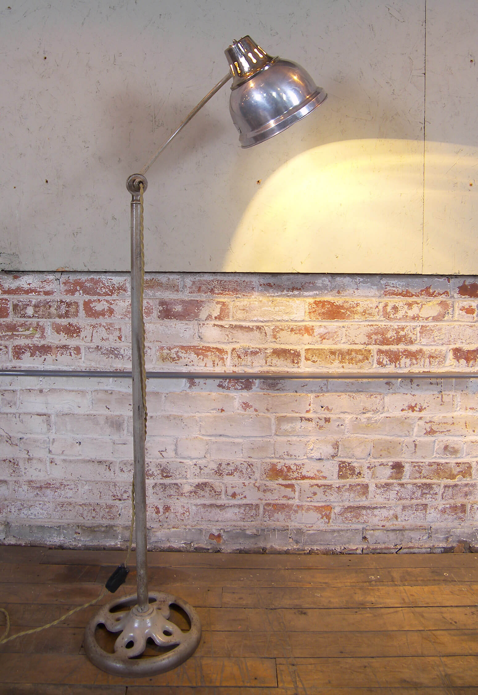 Medical Floor Lamp  Vintage Industrial by Get Back Inc