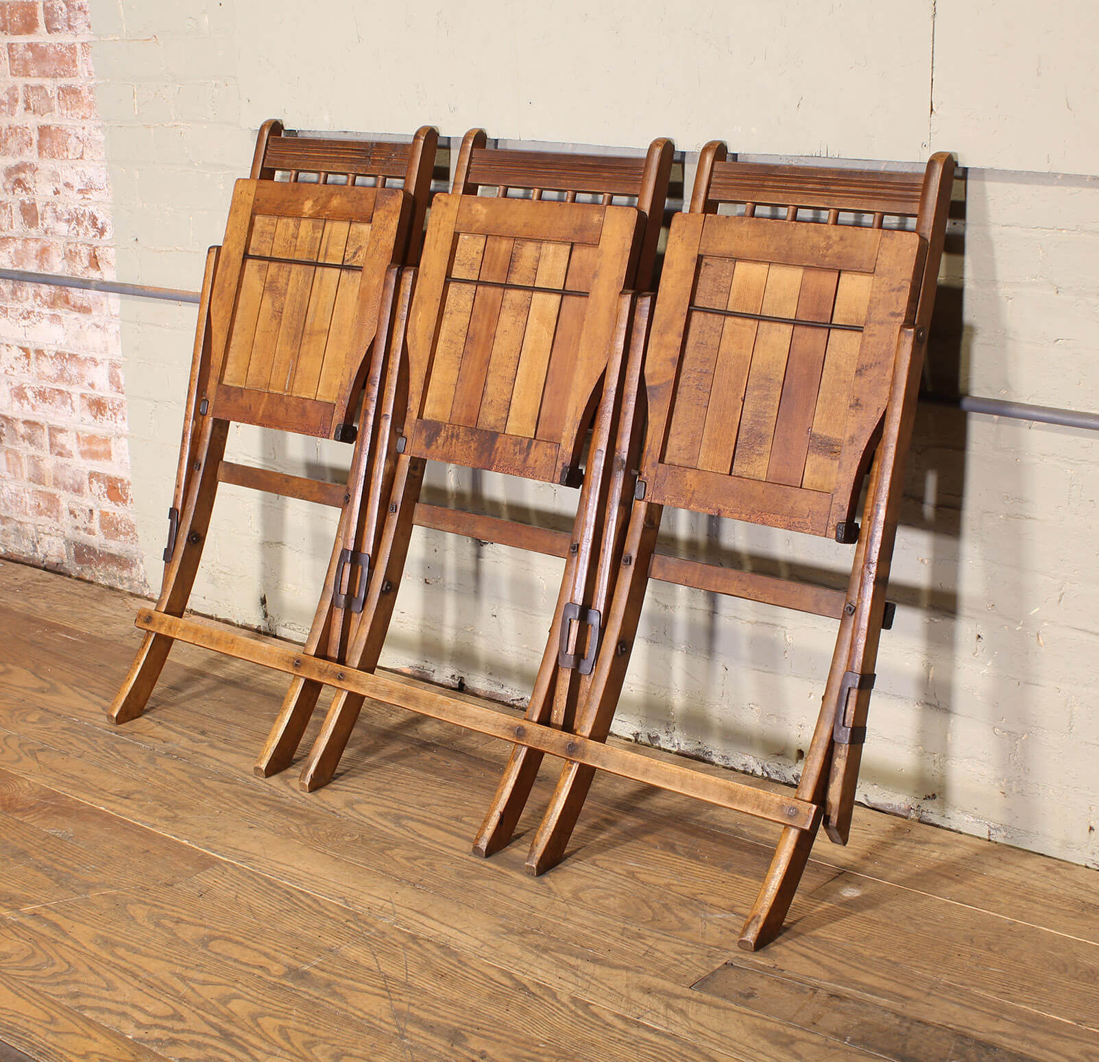 swing chair steel cover rental party tandem wooden stadium seats - vintage industrial by get back, inc