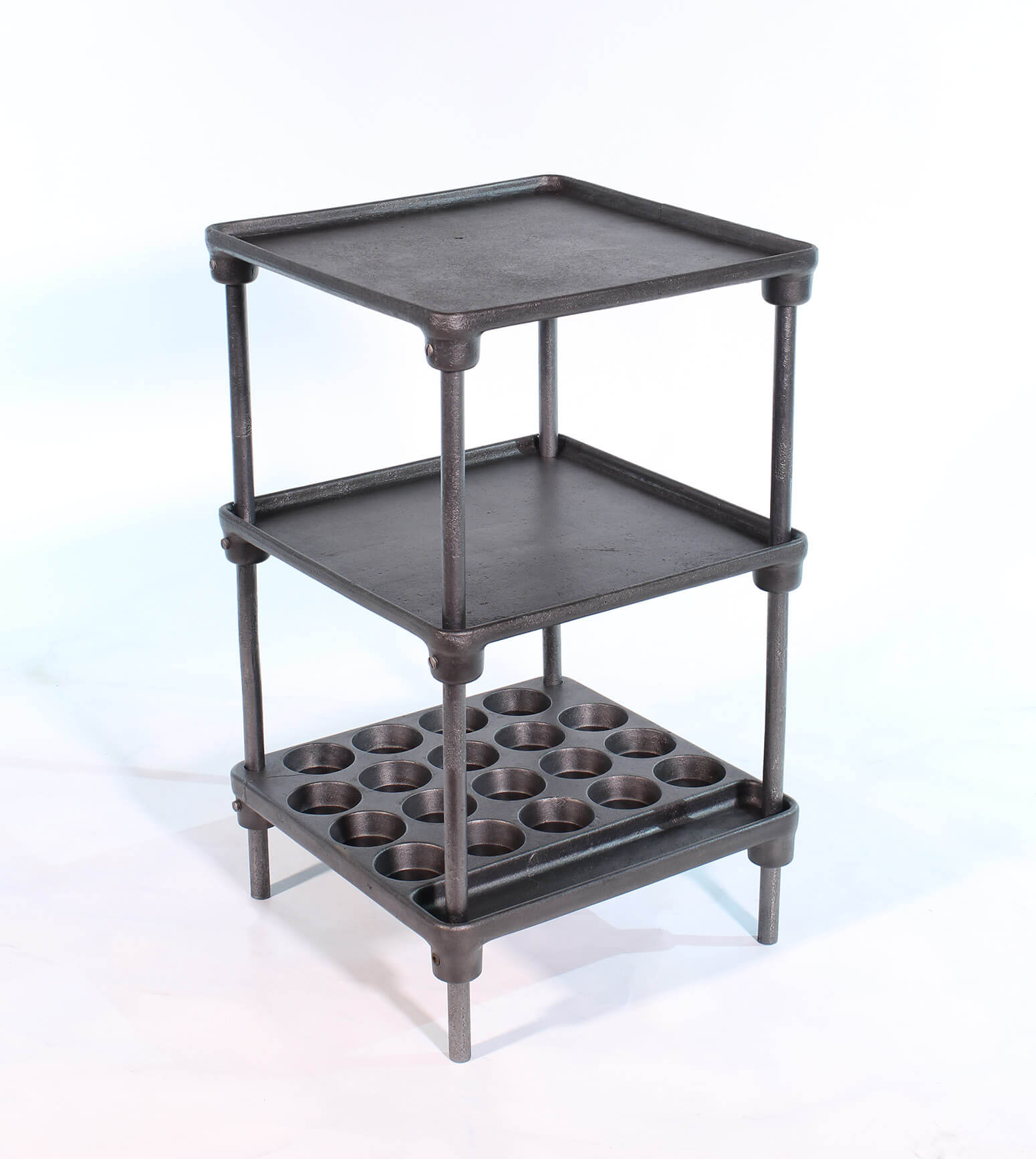 Cast Iron Muffin Side Table  SOLD  Vintage Industrial
