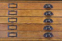 Vintage Wood Flat File Cabinet - Cabinet Designs