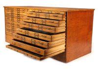 Vintage Oak Flat File Cabinet - Vintage Industrial by Get ...