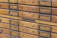 Vintage Wooden Flat File Cabinet