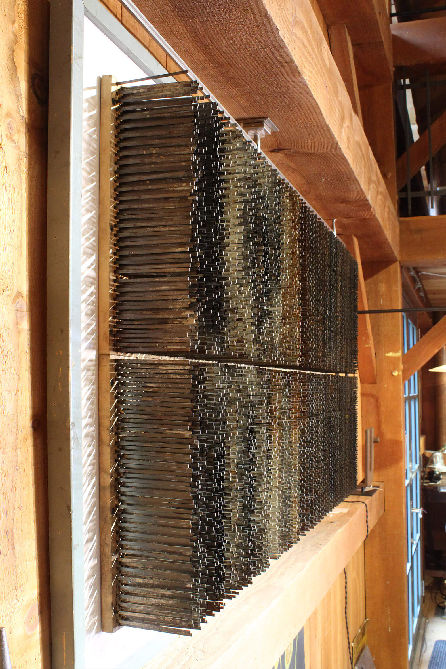Industrial Wall Sculpture  Distressed Conveyor Brushes