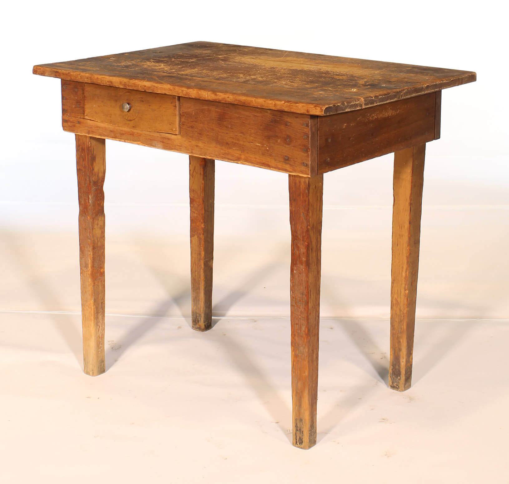 country style wooden school desk