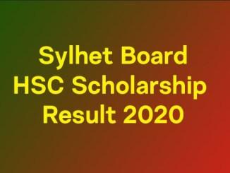 Sylhet Board HSC Scholarship Result