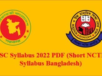 SSC Short Syllabus 2022 pdf Download All Subject NCTB