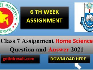 Class 7 Home Science Assignment Answer| 6 th week 2021