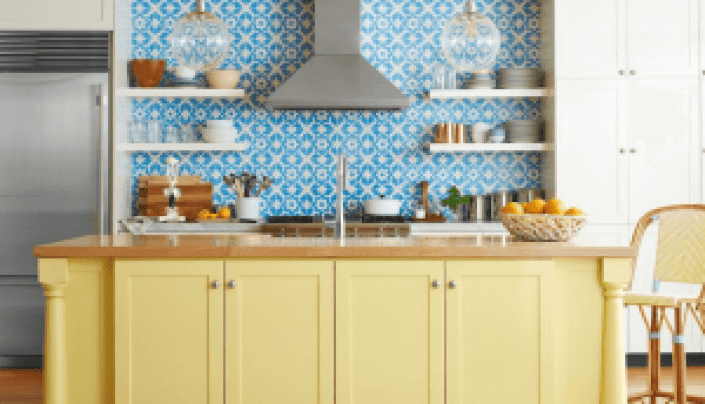 Colorful good kitchen wall colors #kitchenpaintideas #kitchencolors #kitchendecor #kitcheninspiration