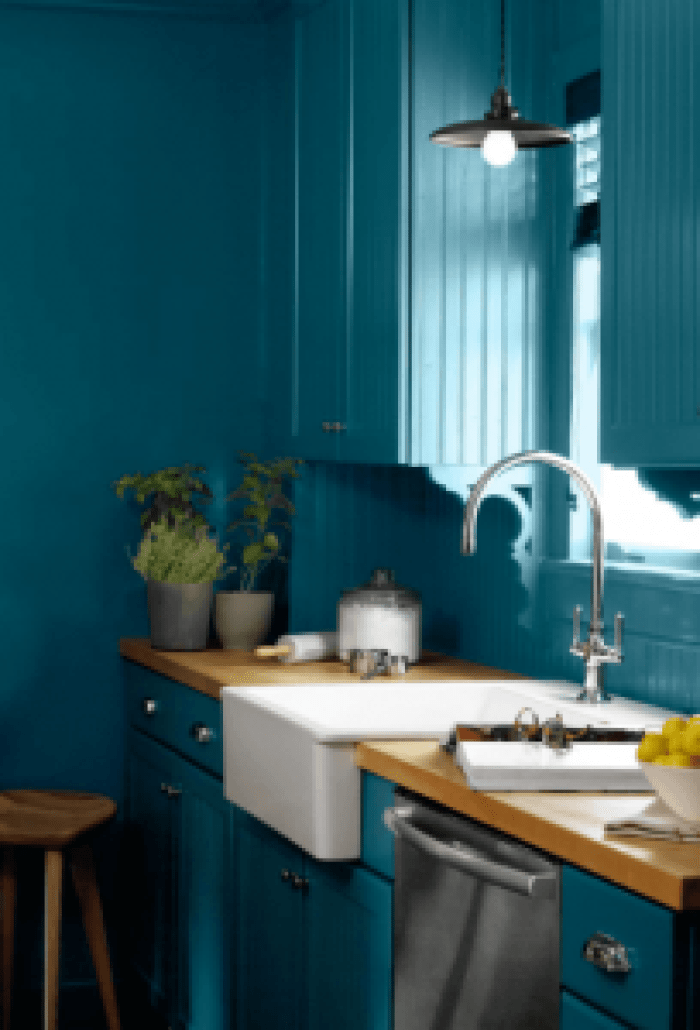 Wonderful cool kitchen colors #kitchenpaintideas #kitchencolors #kitchendecor #kitcheninspiration
