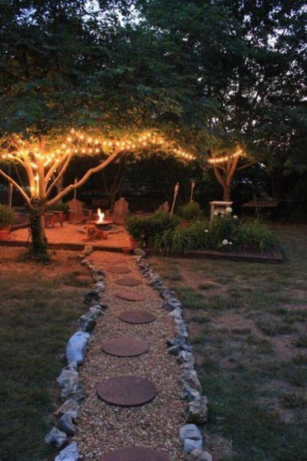 Cool backyard landscape design with deck #backyardlandscapedesign #backyardlandscapingidea #backyardlandscapedesignideas