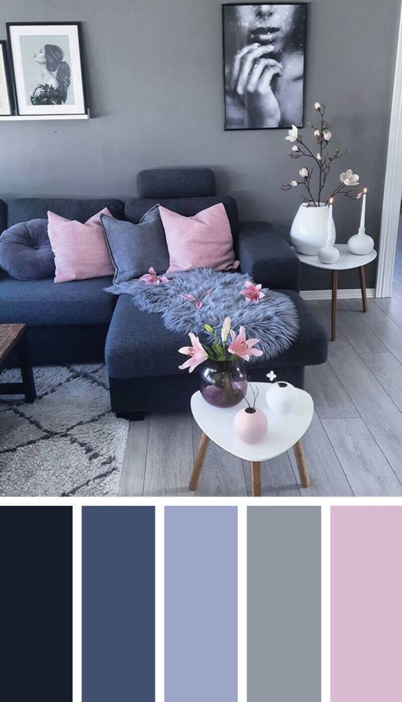 Beautiful colour combination for small living room #livingroomcolorschemes #livingroomcolorcombination