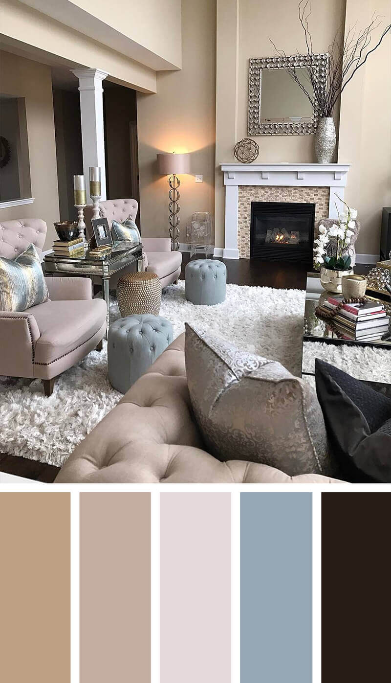 57 Living Room Color Schemes To Make Color Harmony In Yours Rh  Getbeautified Com Best Color