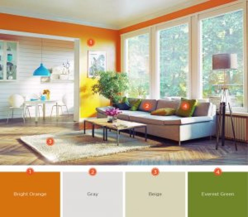 57+ Living Room Color Schemes To Make Color Harmony In Yours