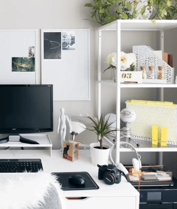 Colorful home office pictures #homeofficedesign #homeofficeideas #officedesignideas