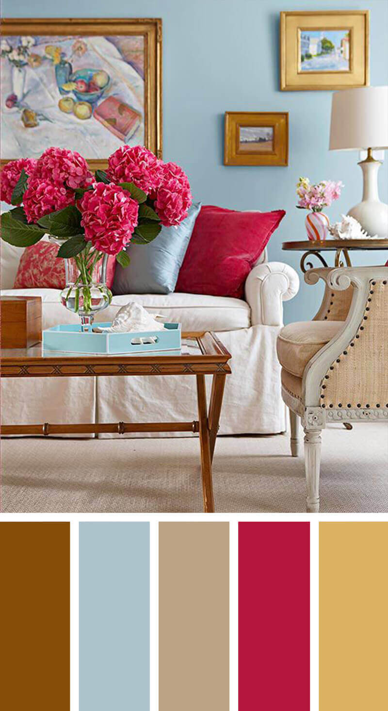 Red Living Room Color Schemes Awesome modern living room color schemes #livingroomcolorschemes  #livingroomcolorcombination