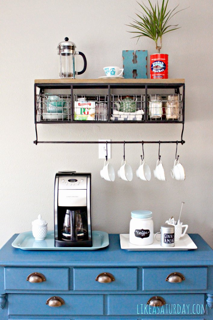 Sensational coffee kitchen decor #coffeestationideas #homecoffeestation #coffeebar