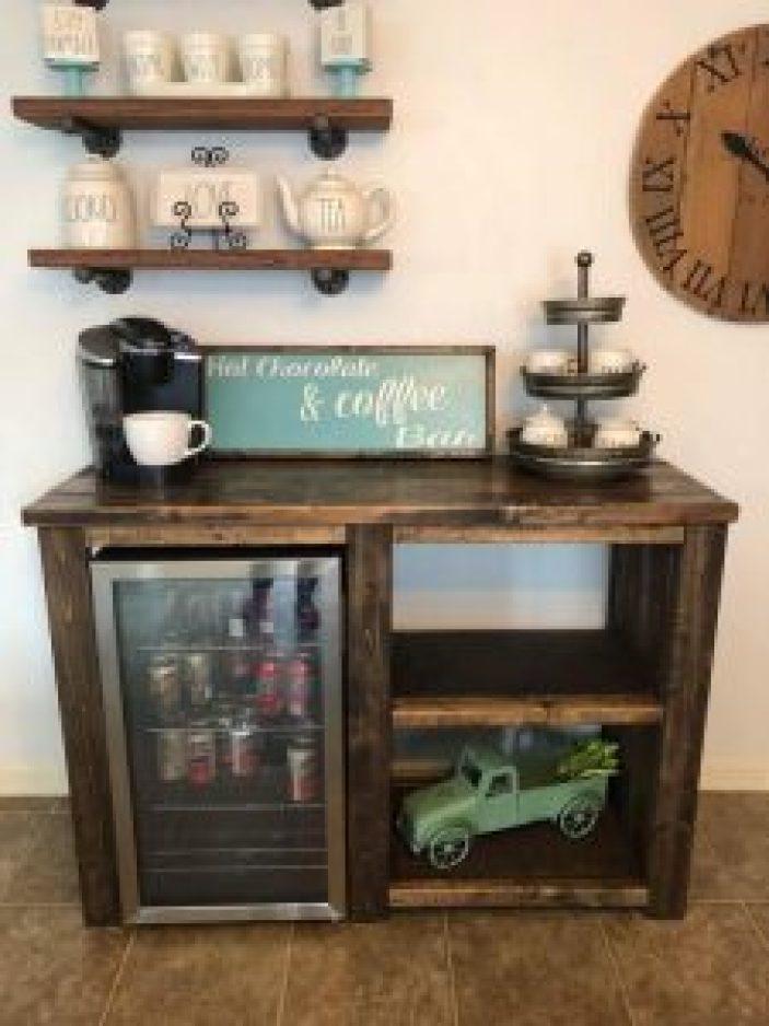 Breathtaking coffee station table #coffeestationideas #homecoffeestation #coffeebar